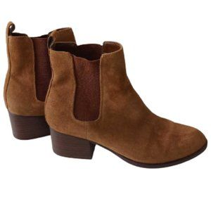GAP Women's Chelsea Brown Suede Ankle Boots